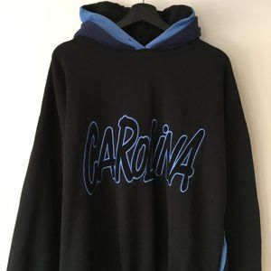 90s Vintage Hoodie Sweatshirt Carolina Pullover XL